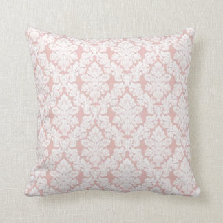pink french lace throw pillow
