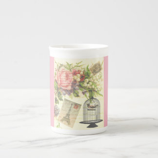 Pink French Theme Vintage Paris China Mug