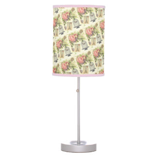 Pink French Theme Vintage Paris Table Lamp
