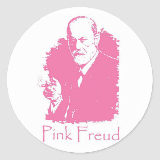 Pink Freud Sticker