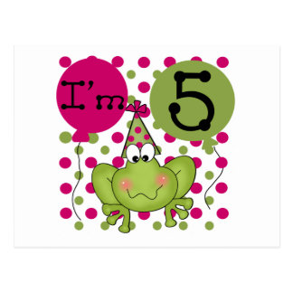 Pink Frog 5th Birthday Tshirts and Gifts Postcard