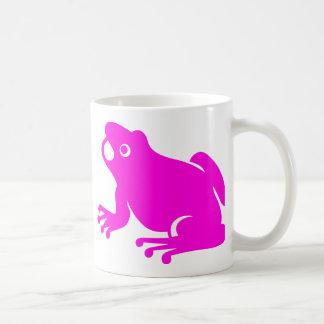Pink frog classic white coffee mug