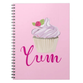 Pink Frosted Cupcake Yum! Notebooks