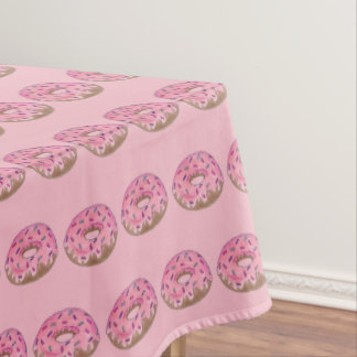 Pink Frosted Donut Doughnut Sprinkles Breakfast Tablecloth