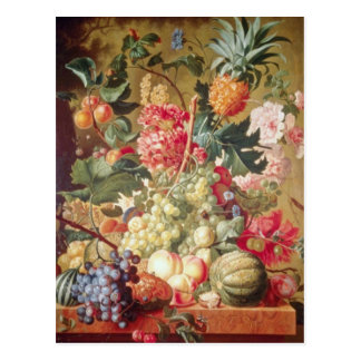 Pink Fruit and Flowers Flemish flowers Postcards