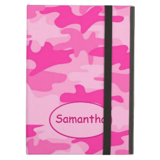Pink Fuchsia Camo Camouflage Name Personalized Case For iPad Air