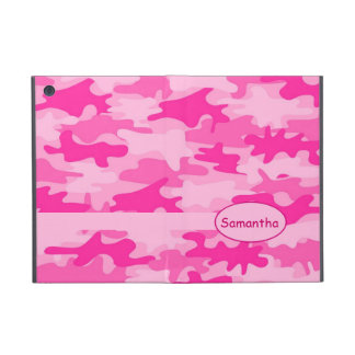 Pink Fuchsia Camo Camouflage Name Personalized Cover For iPad Mini