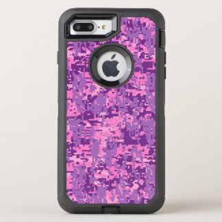 Pink Fuchsia Digital Camouflage Decor on a OtterBox Defender iPhone 8 Plus/7 Plus Case
