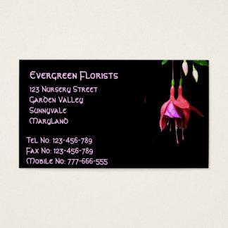 Pink Fuchsia Flower Business Card