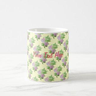Pink fuchsia flower with leaves water colour art basic white mug