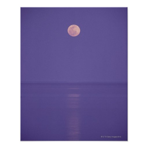 Pink Full Moon Poster