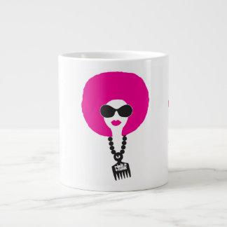Pink Funk Afro Chick Dope Stuff Jumbo Mug