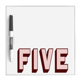 Pink Funky Five Dry-Erase Board