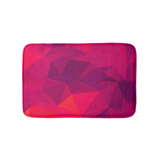 Pink Funky Fractal geometric pattern Bath Mat