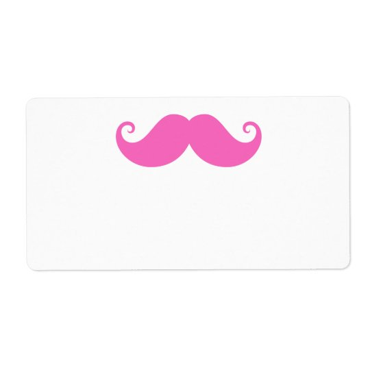 Pink funny handlebar moustache cute trendy