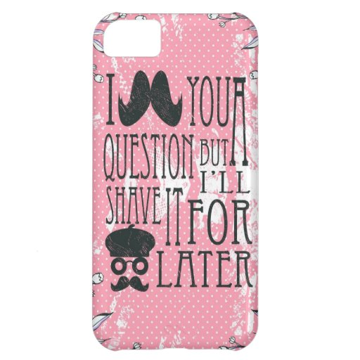 Pink Funny Mustache Artwork. Case For iPhone 5C