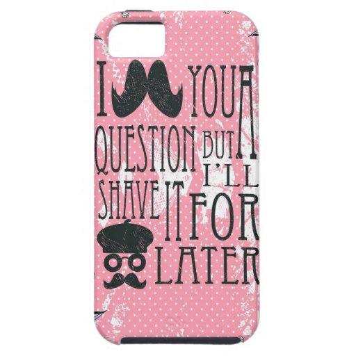 Pink Funny Mustache Artwork. iPhone 5 Cover