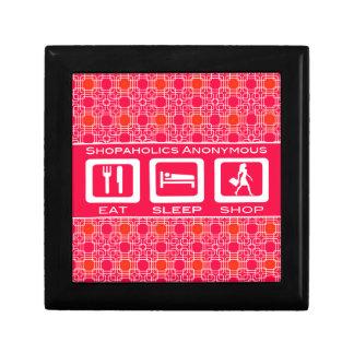 Pink Funny Shopaholic Eat Sleep Shop Award Gift Box