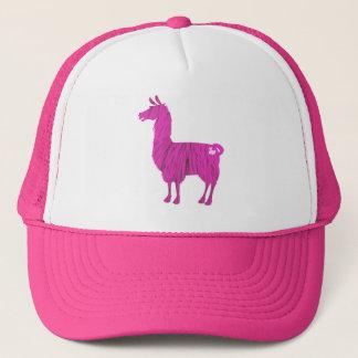 Pink Furry Llama Cap