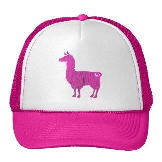 Pink Furry Llama Cap Trucker Hat