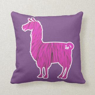 Pink Furry Llama Pillow