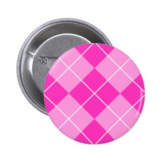 Pink Fuschia Argyle Pinback Buttons