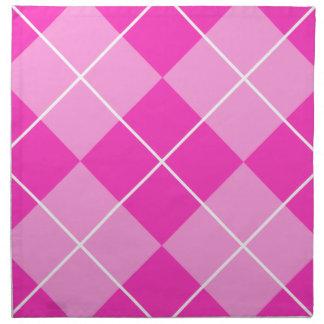 Pink & Fuschia Argyle Cloth Napkins