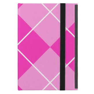 Pink & Fuschia Argyle iPad Mini Case