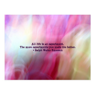 Pink Fusion Frenzy Emerson Quote Postcard