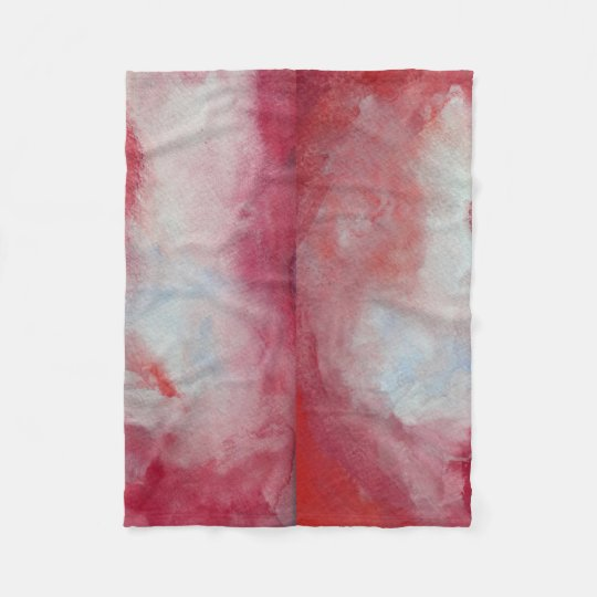 Pink Fusion Watercolor Art Fleece Blanket