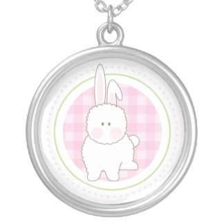 Pink Fuzzy Bunny Necklace