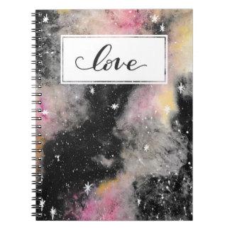 Pink Galaxy - Love Notebook