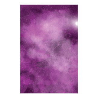 Pink Galaxy Personalized Stationery
