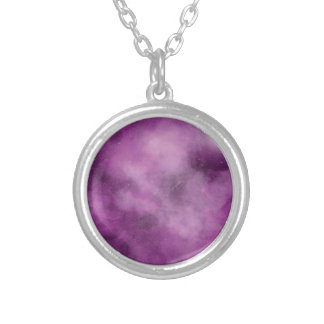 Pink Galaxy Silver Plated Necklace
