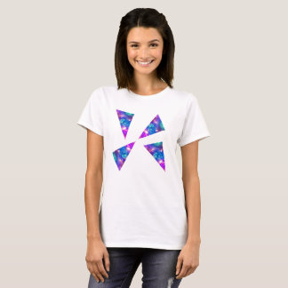 Pink Galaxy Triangles T-Shirt