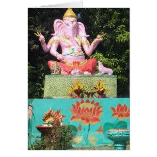 Pink Ganesha in Mae On, Thailand Card