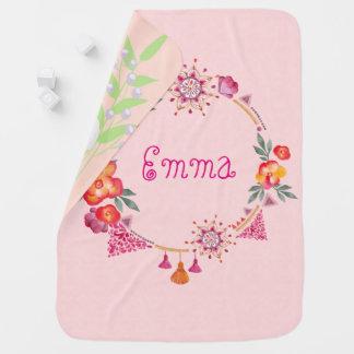 Pink Garden baby blanket