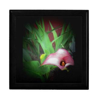 pink garden lily photo print keepsake box