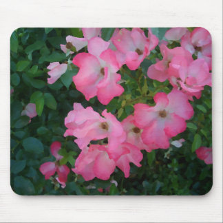 Pink Garden Rose Floral Pretty Girly Stuff Mouse Pad