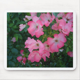 Pink Garden Rose Floral Pretty Girly Stuff Mousepad