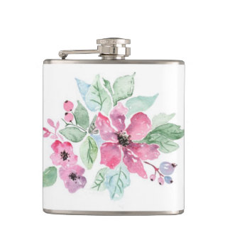 "Pink Gardenia ""mother's Day"" Flasks"