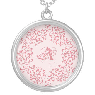 Pink Garland Initial Necklace