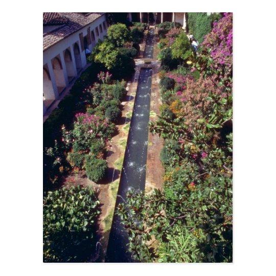 Pink Generalife, The Alhambra, Granada, Spain flow Postcard