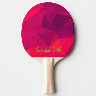 Pink Geometric fractal pattern. Ping Pong Paddle