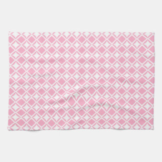 Pink Geometric Kitchen Towel