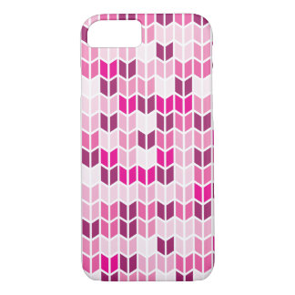 Pink Geometric Pattern iPhone 7 Case
