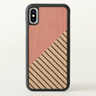 Pink Geometric Pattern iPhone X Case