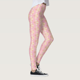 Pink Geometric Pattern Rosy Leggings