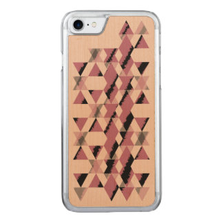 Pink Geometric Snakeskin Carved iPhone 8/7 Case