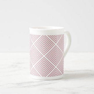 Pink Geometric Squares Tea Cup